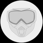 Masque anti buée paintball icon