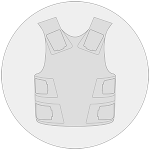 Plastron paintball icon